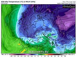 Vers une très probable intensification des conditions hivernales sur la deuxième décade de janvier