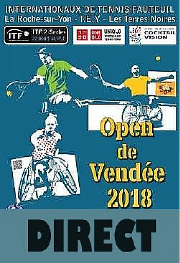 Direct : OPEN de VENDEE Tennis Fauteuil du 22 au 26 Mai 2018