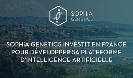 SOPHiA GENETICS investit en France pour développer sa plateforme d'Intelligence Artificielle
