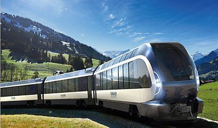 Un train extraordinaire conçu par Pininfarina : le Goldenpass Express, un train panoramique de la Compagnie..