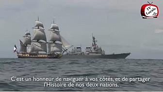 l'Hermione a traversé l'Atlantique et est arrivé à Yorktown le 5 juin 2015