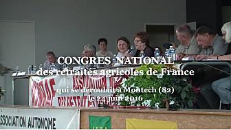 Congrès National des Retraités Agricoles ANRAF à #Montech qui revendiquent 75% du SMIC pour les hommes et également pour les femmes