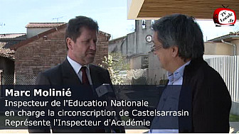 Monsieur Marc Molinié, Inspecteur de l'Education Nationale en charge la circonscription de Castelsarrasin 82 au micro de #TvLocale @EducationFrance