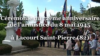 Cérémonie du 8 mai à Lacourt Saint-Pierre en Tarn-et-Garonne