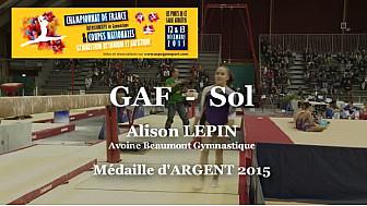GAF Sol : Alison LEPIN Médaille d'ARGENT au Championnat National Séniors de Ponts de Cé  @ffgymnastique #TvLocale_fr #coupenat2015