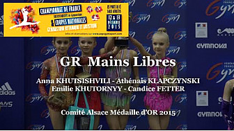 GR Mains Libres de l'équipe d'Alsace Médaille d'OR au Championnat de France Intercomités 2015 à Ponts de Cé  @ffgymnastique #TvLocale_fr