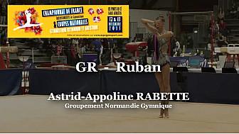 GR Ruban : Astrid-AppolineRABETTE Championnat National  Séniors de Ponts de Cé @ffgymnastique #coupenat2015 #TvLocale_fr