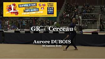 GR Cerceau : Aurore DUBOIS au Championnat National  Séniors de Ponts de Cé @ffgymnastique #coupenat2015 #TvLocale_fr