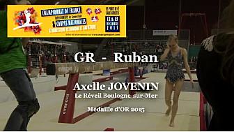GR Ruban : Axelle JOVENIN Médaille d'OR au Championnat National  Séniors de Ponts de Cé @ffgymnastique #coupenat2015 #TvLocale_fr