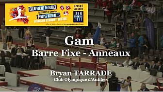 GAM Barre Fixe et Anneaux : Bryan TARRADE au Championnat National Séniors de Ponts de Cé  @ffgymnastique #TvLocale_fr #coupenat2015