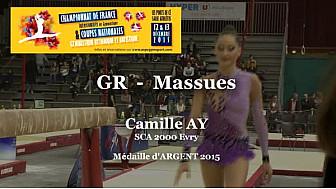 GR Massues : Camille AY Médaille d'ARGENT au Championnat National  Séniors de Ponts de Cé @ffgymnastique #coupenat2015 #TvLocale_fr