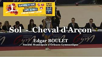GAM Sol : Edgar BOULET au Championnat National Séniors de Ponts de Cé  @ffgymnastique #TvLocale_fr #coupenat2015