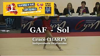 GAF Sol : Grace CHARPY au Championnat National Séniors de Ponts de Cé  @ffgymnastique #TvLocale_fr #coupenat2015