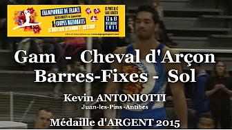 GAM Kevin ANTONIOTTI Médaille ARGENT au Championnat National Séniors de Ponts de Cé  @ffgymnastique #TvLocale_fr #coupenat2015