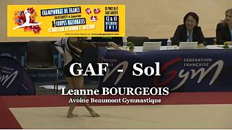 GAF Sol : Leanne BOURGEOIS au Championnat National Séniors de Ponts de Cé  @ffgymnastique #TvLocale_fr #coupenat2015
