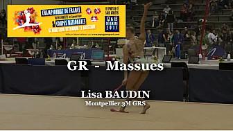 GR Massues : Lisa BAUDIN au Championnat National  Séniors de Ponts de Cé @ffgymnastique #coupenat2015 #TvLocale_fr