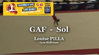 GAF Sol : Louise PILLA au Championnat National Séniors de Ponts de Cé  @ffgymnastique #TvLocale_fr #coupenat2015