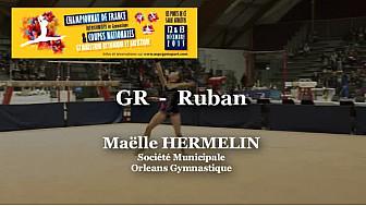 GR Ruban : Maëlle HERMELIN au Championnat National  Séniors de Ponts de Cé @ffgymnastique #coupenat2015 #TvLocale_fr
