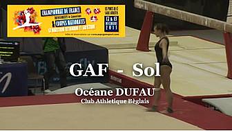 GAF Sol : Océane DUFAU au Championnat National Séniors de Ponts de Cé  @ffgymnastique #TvLocale_fr #coupenat2015