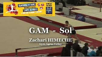 GAM Sol : Zachari HIMECHE au Championnat National Séniors de Ponts de Cé  @ffgymnastique #TvLocale_fr #coupenat2015