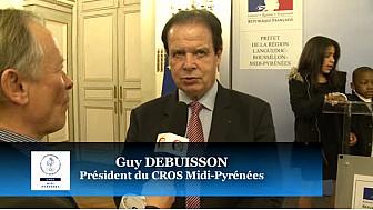 Guy DEBUISSON Président du CROS Midi-Pyrénées à la Cérémonie Médailles Jeunesse et des Sports 2016 #CrosMidiPyrénées @CaroleDelga #TvLocale_fr @SportsRegio
