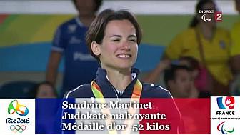 #Sandrine Martinet, médaille d'or #JeuxParalympiques eni judo
