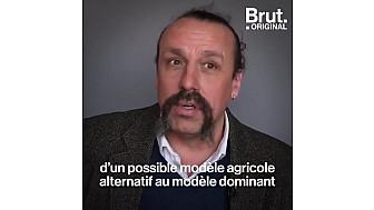 Benoît Biteau sur la vidéo de Brut. France Info