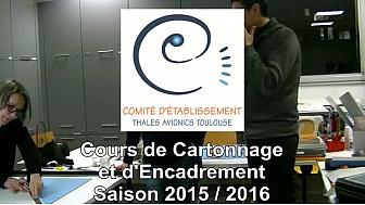CE Thales AVIONICS Toulouse - cours de cartonnage et d'encadrement