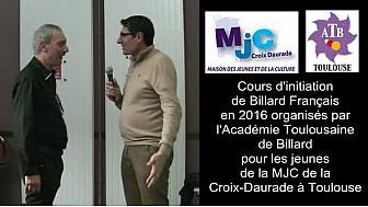 #Toulouse Cours d'initiation au Billard Français des Jeunes de la MJC Croix-Daurade @MJCCroixDaurade