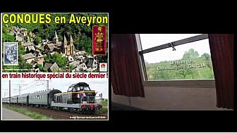 Train historique de Toulouse à Conques   #trainvapeur #tourismeoccitanie #gougler #TvLocale.fr
