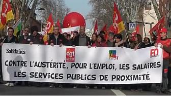 #Grève à Toulouse : #Manifestation de la fonction publique pour la revalorisation des salaires @tvlocale_fr