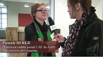 marches exploratoire - Pascale BERGE Directrice centre social CAF de Auch et Organisatrice de la journée.
