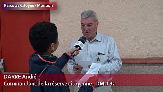 Parcours citoyen des écoles de la ville de Montech - Monsieur DARRE André - Commandant de la réserve citoyenne - DMD 82