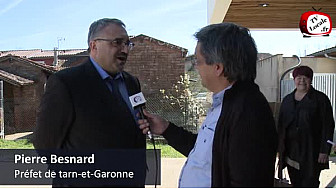 82 - Lacourt-Saint-Pierre -  Interview de Monsieur Pierre Besnard @Prefet_82  après son intervention devant les jeunes reporters.