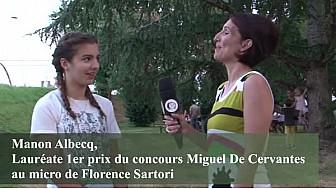 Le concours d'espagnol Cervantes, Manon Albecq a reçu le 1er prix