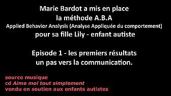 Marie Bardot a mis en place la méthode A.B.A Applied Behavior Analysis (Analyse Appliquée du comportement)  pour sa fille Lily - enfant #autiste