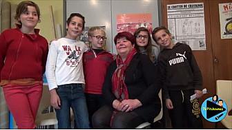 Les jeunes reporters de l'école primaire de Lacourt Saint Pierre ont interviewé Madame le Maire - Françoise Pizzini