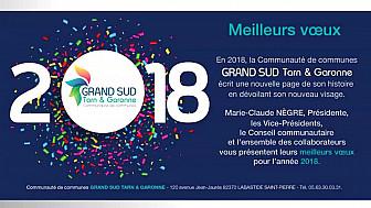 Cérémonie des Vœux 2018 aux collaborateurs de la Communauté de Communes GRAND-SUD Tarn & Garonne @tarnetgaronne_CG