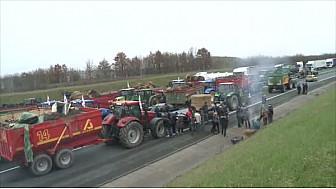 Manifestations des Agriculteurs de nouveau Mobilisés à Montauban et Castelsarrasin suite à la suppression Zones Défavorisées @tarnetgaronne_CG @Occitanie @FDSEA