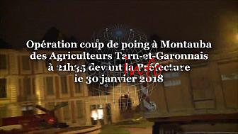 Les Agriculteurs en Colère en Tarn-et-Garonne: Opération coup de poing à 21h35 devant la Préfecture du Tarn-et-Garonne @Occitanie @tarnetgaronne_CG @FNSEA