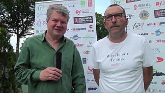 Open de Vendée de Tennis Fauteuil 2018: Nicolas Peifer qui remporte cette édition 2018 au micro de  Philippe Gourraud  de TV3P