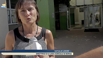 Josiane Chevalier, Préfète de Corse, en déplacement au lycée agricole de Borgu