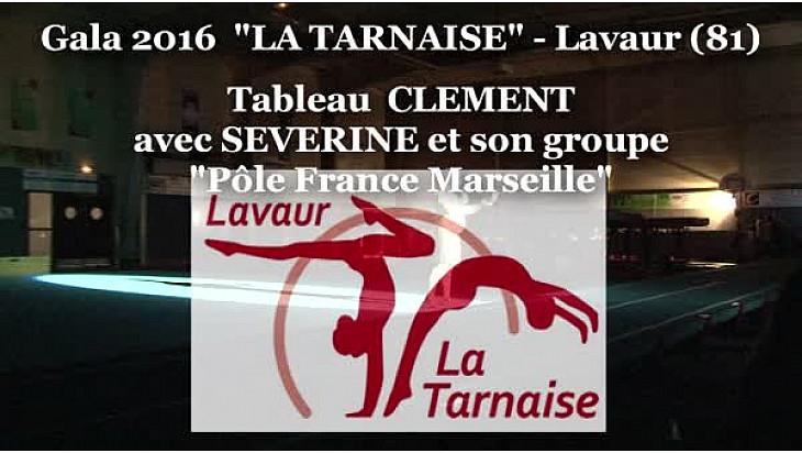 Clément BOULLY salarié du Club de la Tarnaise à Lavaur a présenté son tableau 'pôle France Marseille' au Gala annuel du club,