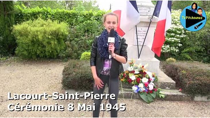Commémoration du 8 Mai 1945 à Lacourt-Saint-Pierre : Maëlie, jeune reporter de TvPitchounes, a réalisé les interviews. #TvLocale_fr