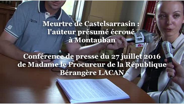 Meurtre de Castelsarrasin Mme la substitut du Procureur de la République du Tarn-et-Garonne à Montauban Bérangère LACAN communique à la presse.
