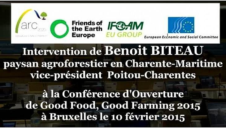 PAC 2020 : Benoit BITEAU intervenant conférencier le 10 février 2015 à Bruxelles au Good Food Good Farming sur #TvLocale_fr