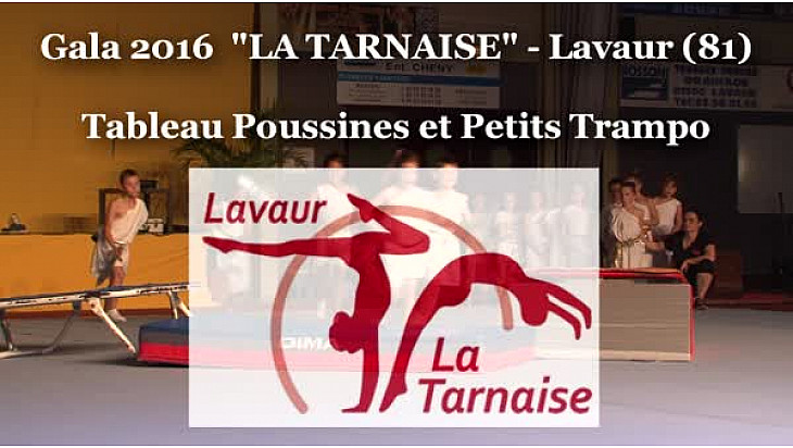 Gymnastique Gala 2016 'La Tarnaise' de Lavaur (81): Tableau Poussines et Petits Trampo #TvLocale_fr