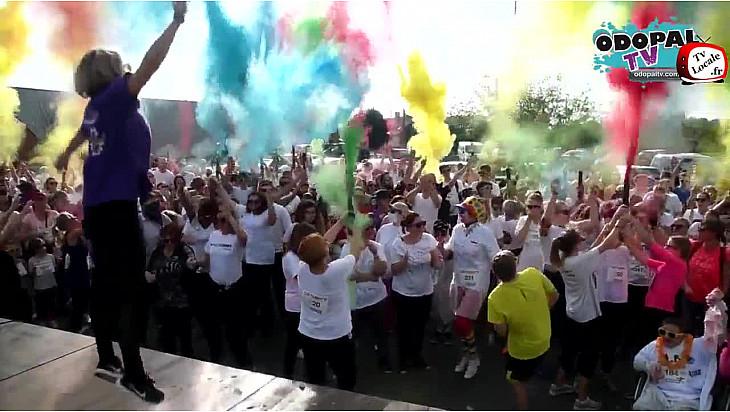 Grand succès de Watt'color à Watten avec les commerçants dans le cadre d'AudomaRose 2017.