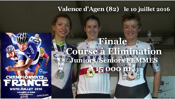 Juliette POUYDEBAT Championne de France RollerPiste 2016 au  15000m élimination JF/SF  @FFRollerSports #TvLocale_fr #TarnEtGaronne @Occitanie