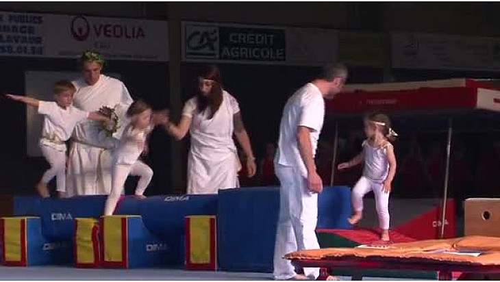 Gymnastique Gala 2016 'La Tarnaise' de Lavaur (81): Tableau Baby / Eveil #TvLocale_fr